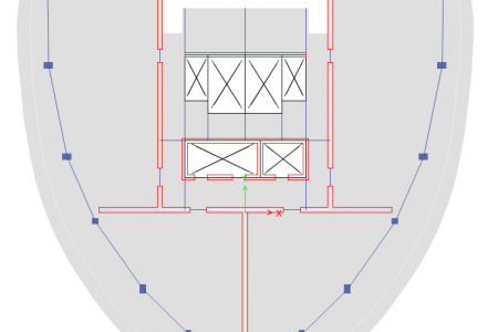 Structural Model - Typical Plan View